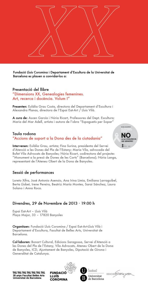 ÈXIT EN LA PRESENTACIÓ DE DIMENSIONS XX A L'ESPAI EAT ART